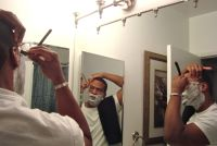 Shaving in the miror1 Do black men need their own shaving products?